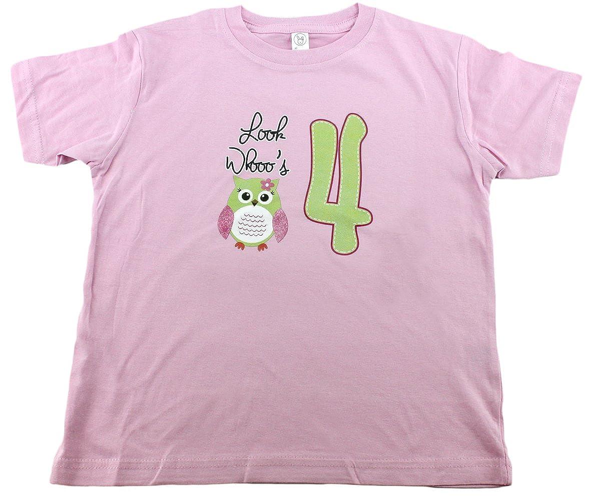 【メール便不可】 誕生日シャツfor Baby Girls 4 with Owl Baby , Look Whos 1 1 XL Owl, Look Whos 4 B00VIYG2AE, ドレミドラッグ:32140606 --- a0267596.xsph.ru