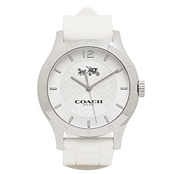 34c08a57e61b [コーチ] 腕時計 レディース アウトレット COACH W6033 WHT シルバー ホワイト [並行輸入品]