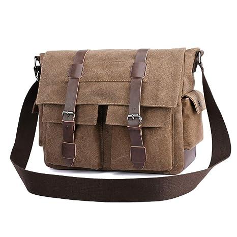 4587e4706d18 Amazon.com: Ybriefbag Unisex Canvas Traveling Bag, Single Shoulder ...
