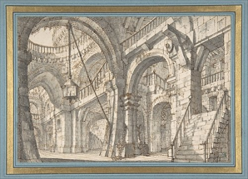 Serafino Print (Perspective for a Stage Set with Stairs and Arches Poster Print by Serafino Brizzi (Italian Bologna 1684-1737 Bologna) (18 x)