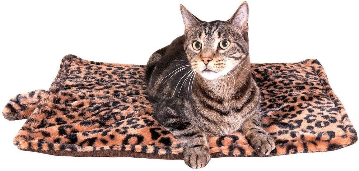Thermal Cat Pet Dog Warming Bed Mat (Beige, Regular) : Self Warming Pet Bed : Pet Supplies