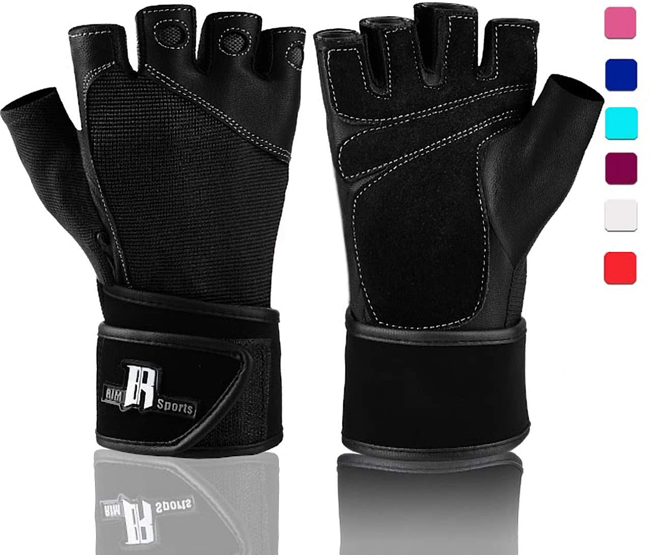 Fitness and Strength Training Full Palm and Wrist Protection to Prevent Hand and Wrist Calluses New Workout Glove with Wrist Wrap for Weight