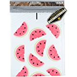 """Mighty Gadget (R) 8-1/2 x 12"""" Watermelon Designer Poly Bubble Mailers Bubble Shipping Envelopes - 25 pack"""