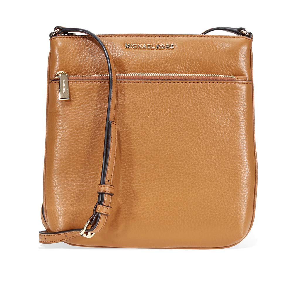 376b39bc7be0 Michael Kors Riley Small Flat Leather Crossbody - Acorn  Handbags   Amazon.com