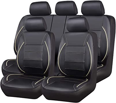 Airbag Compatible AUTOYOUTH Car Seat Covers without Wrinkle Design Fit for Suvs,Trucks,Cars,Sedans,Vans