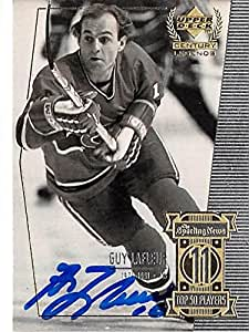 Guy Lafleur autographed hockey card (Montreal Canadiens ...