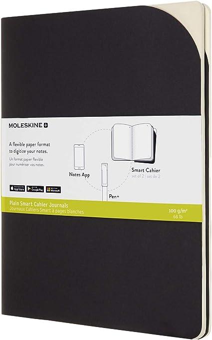 Moleskine, Cuaderno de Papel Digital, Set de 2 Cuadernos de Rayas Compatibles con Pen+, Tapa de C...