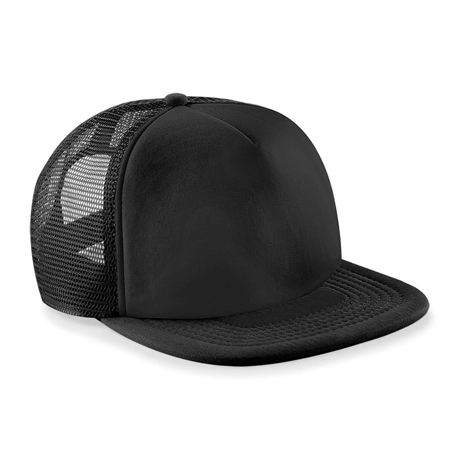Vintage Snap Back Trucker Cap Black/black