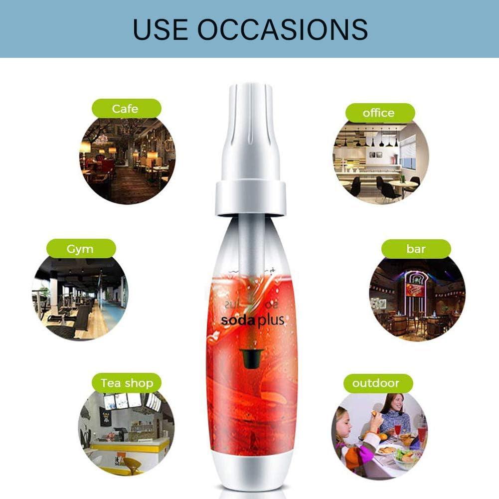 HXZB Portable Soda Maker Seltzer Bottiglia Casa Fai da Te Bubble Fruit Juice Gassata Bevande Sane Macchina con 10 Standard CO2 Charger
