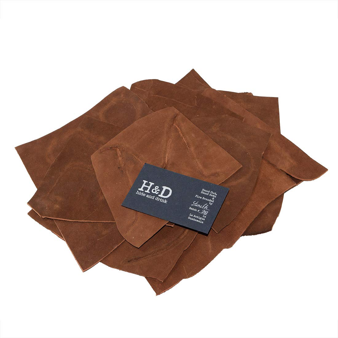 Leather Scraps with Scars for Arts /& Crafts, :: Swayze Suede 5 to 8 in. Long 12 oz Pack Hide /& Drink Different Widths