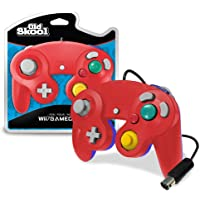 Old Skool GameCube / Wii Compatible Controller - Red/Blue Special Edition