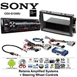 Volunteer Audio Sony CDX-G1200U Double Din Radio Install Kit with CD Player, USB/AUX Fits 2007-2008 Ram, 2006-2007 Chrysler 300 (Retains steering wheel controls)