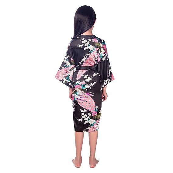 PrettyCos Ninos Bata de Bano Pijamas de Seda Suave Ropa de Dormir con bonita impresion Bata de Casa Albornoz Para Ninos: Amazon.es: Ropa y accesorios
