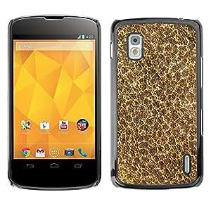 KOKO CASE / LG Google Nexus 4 E960 / papel tapiz de arte moderno natural textura de espuma / Delgado Negro Plástico caso cubierta Shell Armor Funda Case Cover