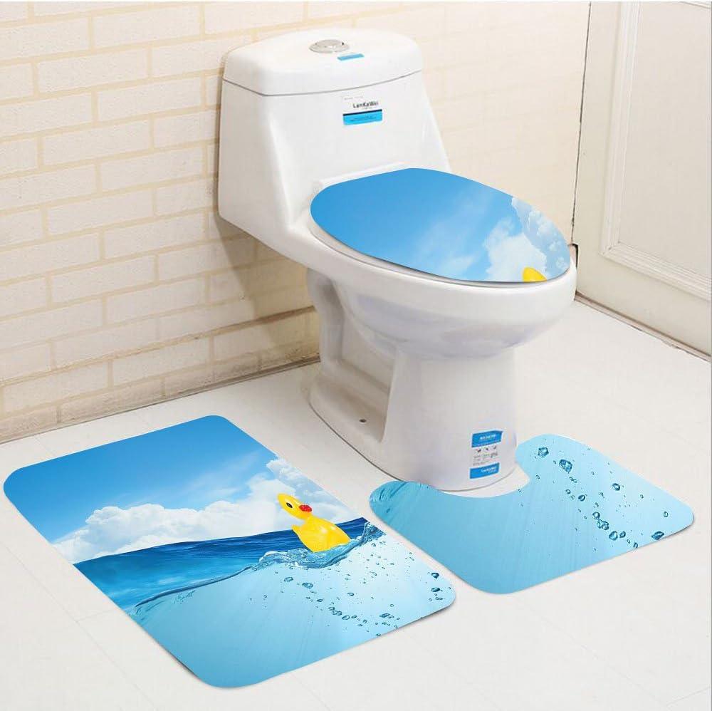 Keshia dwete tres piezas para inodoro asiento Pad customrubber ...