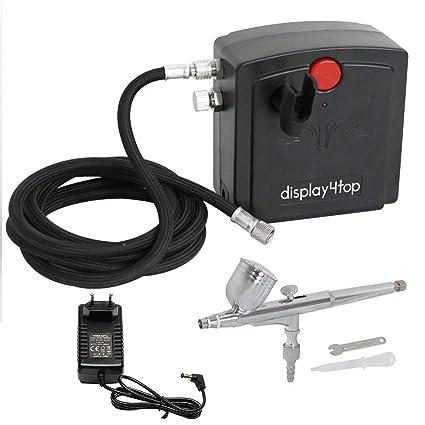 Display4top Doble Acción aerógrafo compresor conjunto de herramientas completo para la torta de inyección de tinta