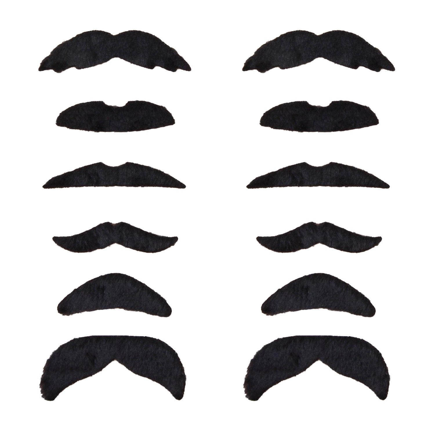 48Pcs//set Costume Party Funny Fake False Moustache Stick On Tash Fancy Beard