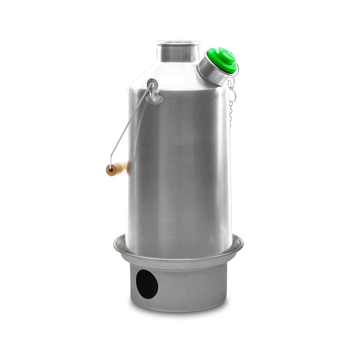 Kelly Kettle Camp Stove Stainless Steel - Boils Water Within Minutes, Uses Natural Fuel, and Enables You to Rehydrate Food or Cook a Meal (Large Base Camp) [並行輸入品] B07R4WKGV9