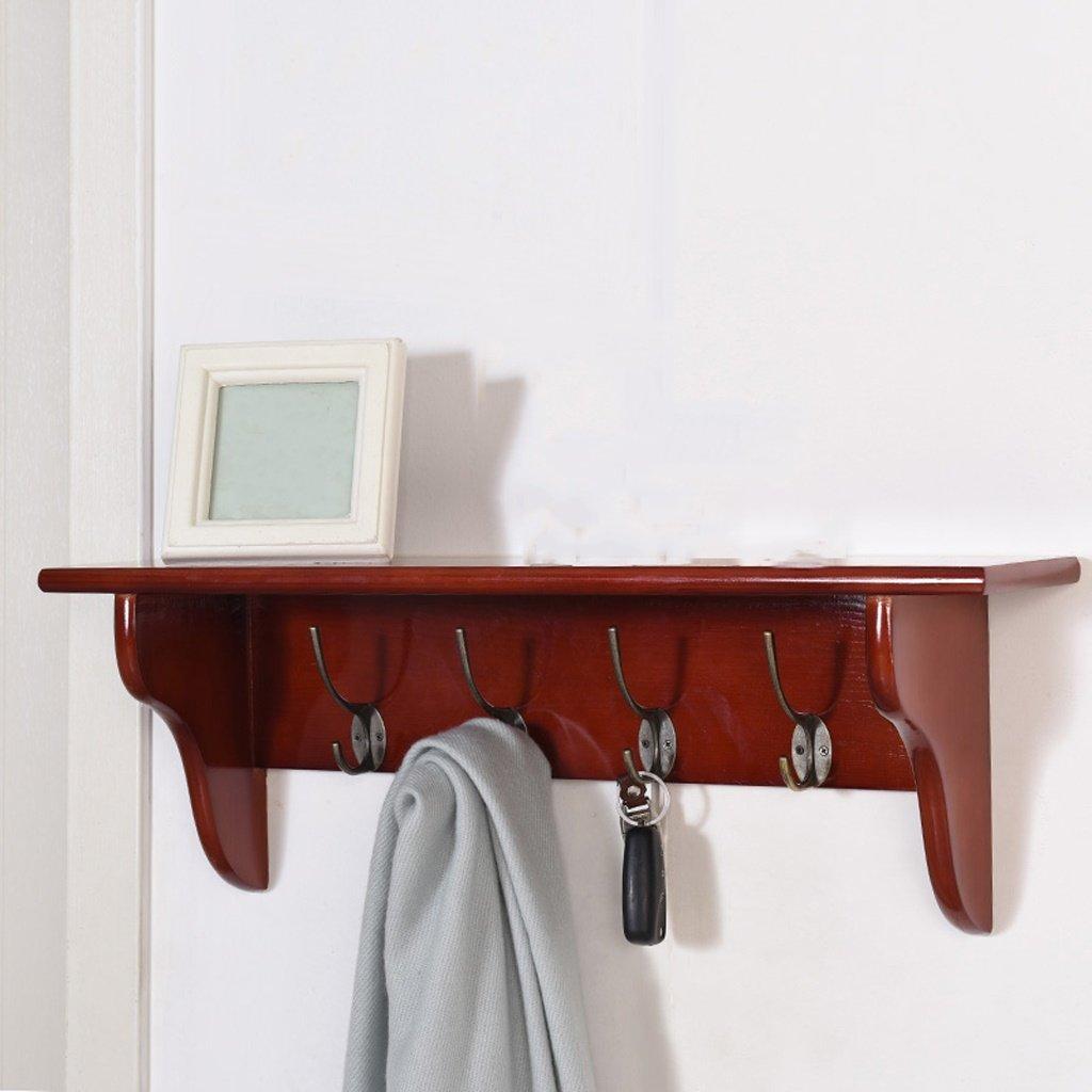 Blanco Rojo 4 Ganchos Color : Red Wall coat rack-Jack Perchero de Madera Maciza Perchero de Pared Perchero Dormitorio Perchero de Pared Simple Perchero de Pared de Moda