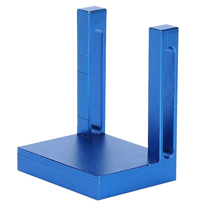 Aleaci/ón de aluminio Carpinter/ía Localizador de agujeros Kit de carpintero Plantilla de espiga Herramienta de gu/ía de perforaci/ón de agujeros de madera 27x6.3cm//10.63x2.48in