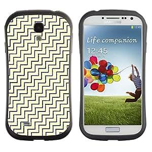 Suave TPU GEL Carcasa Funda Silicona Blando Estuche Caso de protección (para) Samsung Galaxy S4 I9500 / CECELL Phone case / / Diagonal White Gold Pattern /