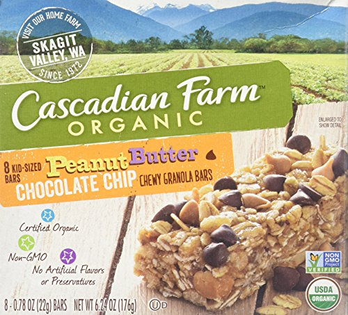 Cascadian Farm Organic Chewy Granola Bars - Peanut Butter Chocolate Chip - 6.24 oz - 8 ct by Cascadian Farm
