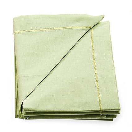Italbaby Plain juego de sábanas para cochecito, color verde, 3 piezas