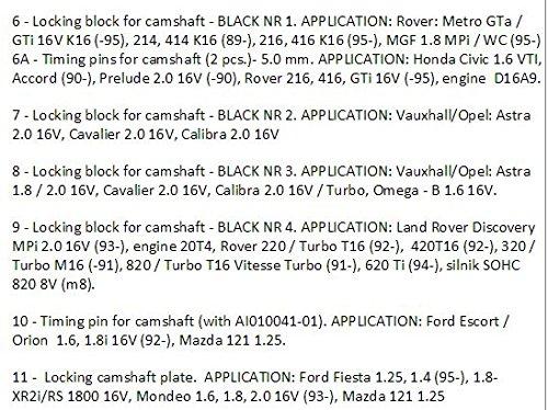 Juego de herramientas de bloqueo de tiempo universal para motor de 19 piezas, kit de correa de sincronización ASTA TOOLS UK NUEVO: Amazon.es: Industria, ...
