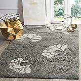 Safavieh Florida Shag Collection SG459-8013 Grey and Beige Area Rug (8'6″ x 12′)