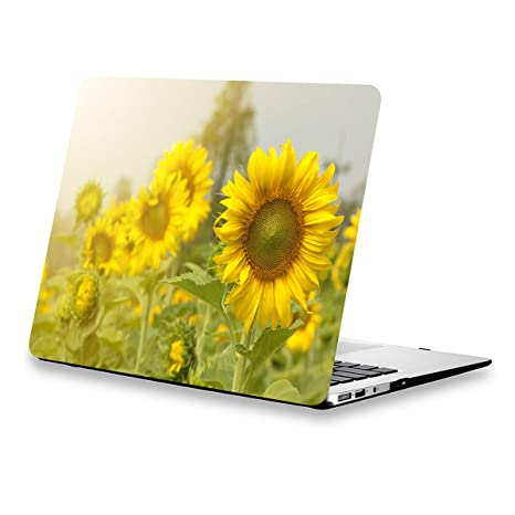save off 9478d 839c3 Lapac MacBook Air Case 13 inch Sunflower, MacBook Air A1466 Case Floral,  Soft-Touch Protective Hard Case Shell with Keyboard Cover for MacBook Air  13 ...