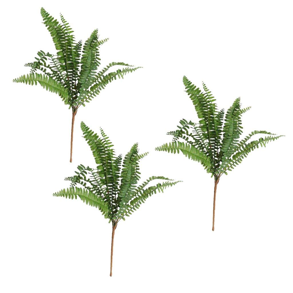 Dovewill Hot Sale! 3Pieces 45cm Artificial Fern Bouquet Silk Persian Foliage For Home Shop Window Decor