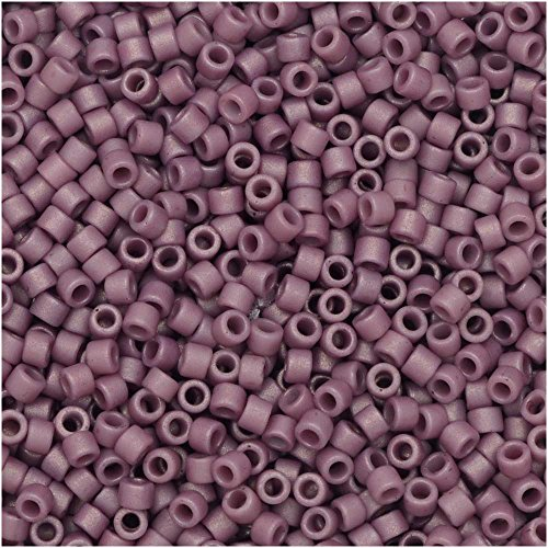 Miyuki Delica Seed Beads Size 11/0 Frosted Matte Opaque Glazed Plum DB2295 7.2 Gram Tube