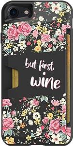 Smartish - But First, Wine - iPhone 7/8/SE (2020) Wallet Case - Wallet Slayer Vol 1 [Slim + Protective] Credit Card Holder - Fits iPhone 7/8/SE (2020)