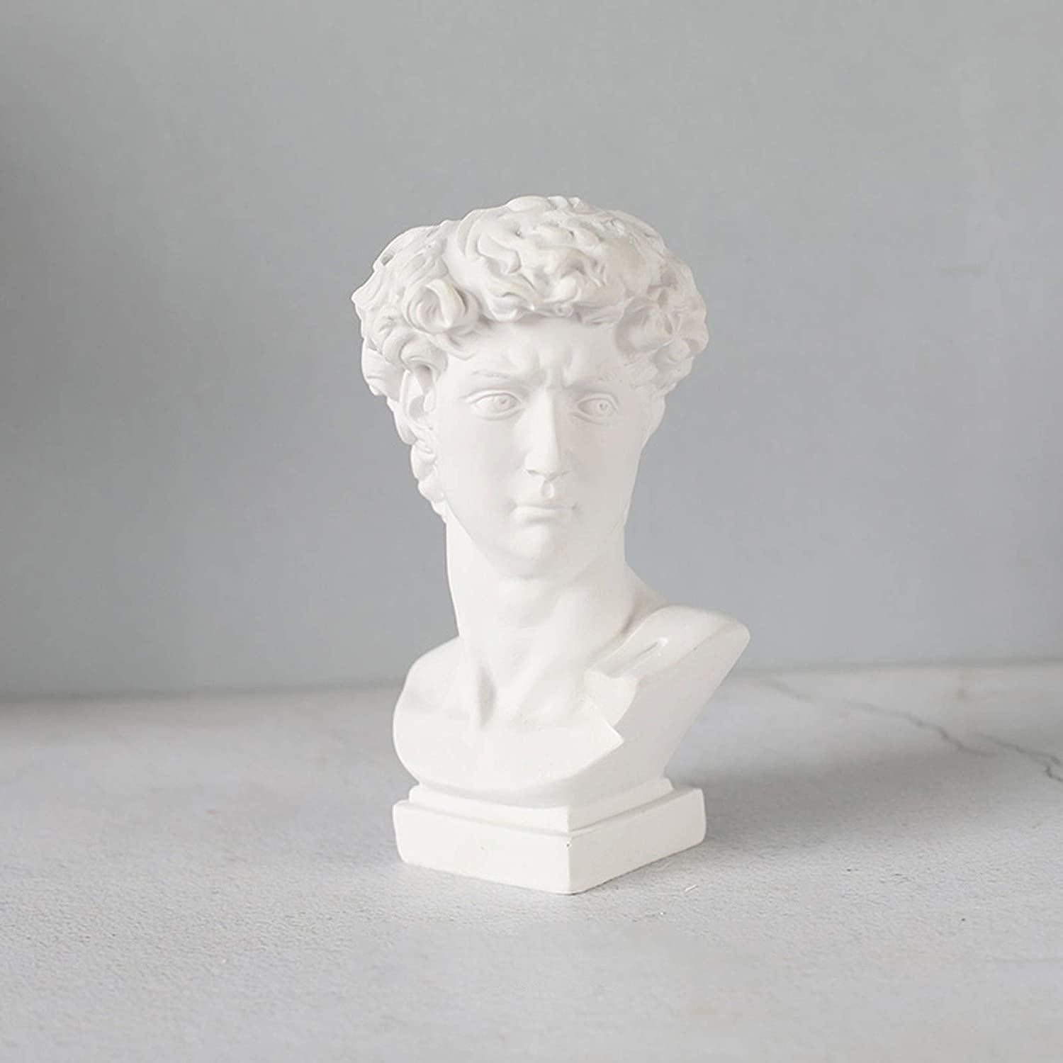 Greek Roman Style Statue Head Planter,Classic Indoor Outdoor Planter Statue Urn for Plants Durable Resin Flower Pot Art Ornaments-c 9x17cm(4x7inch)