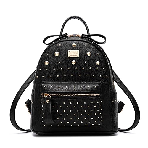 Image Unavailable. Image not available for. Color  Fashion Studded Leather  Backpack ... aa3c9093f4a26