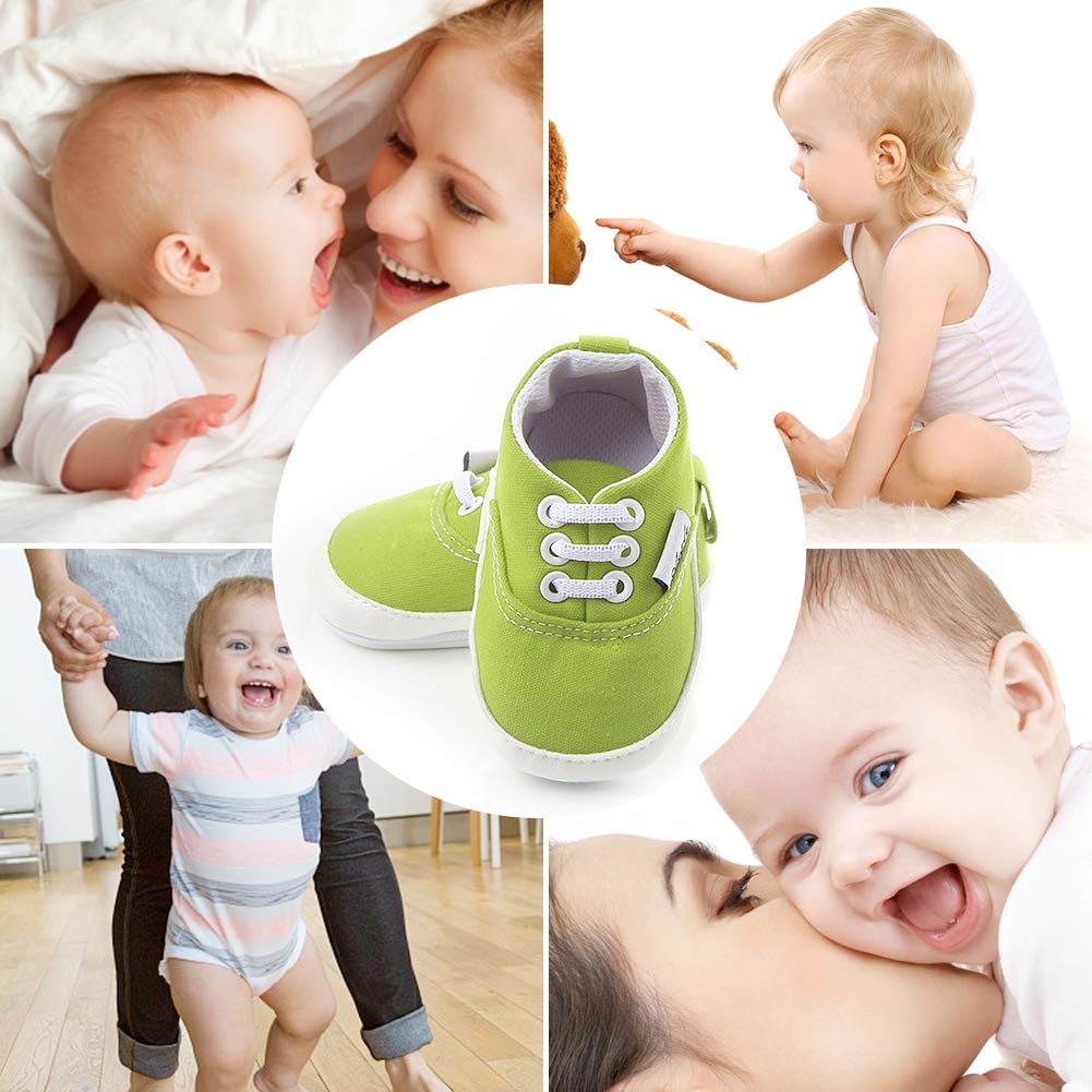 Fashion Baby Boys Girls Canvas Toddler Sneaker Anti-Slip Ultra-Lightwight First Walkers Candy Shoes 0-18 Months Chrismas Man