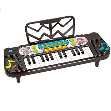Amazon.es: DUWEN Teclado para Niños Principiante para Enseñar el Piano Primeros Pasos Teclado Mini 32 Teclas Teclado Multifuncional (Negro)