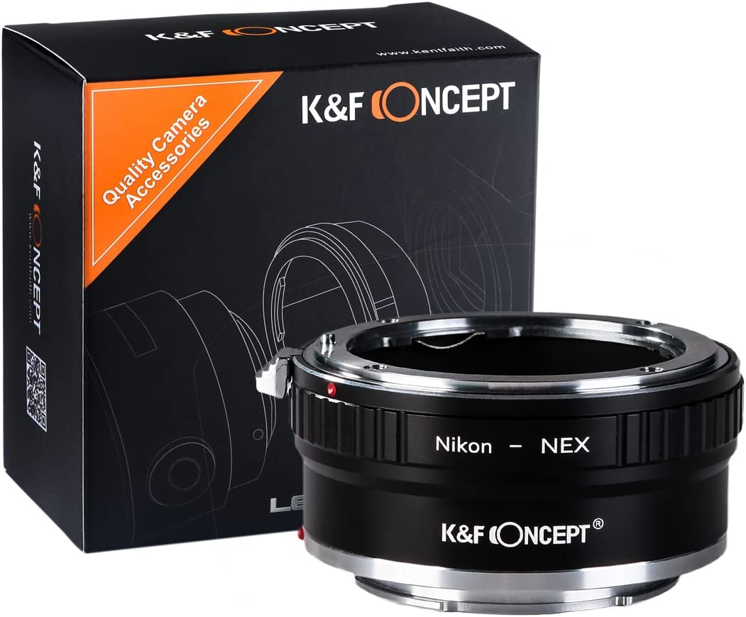 Copper Adapter K/&F Concept Lens Mount Adapter Compatible with Nikon AI Lens to Sony NEX E-Mount Camera Body
