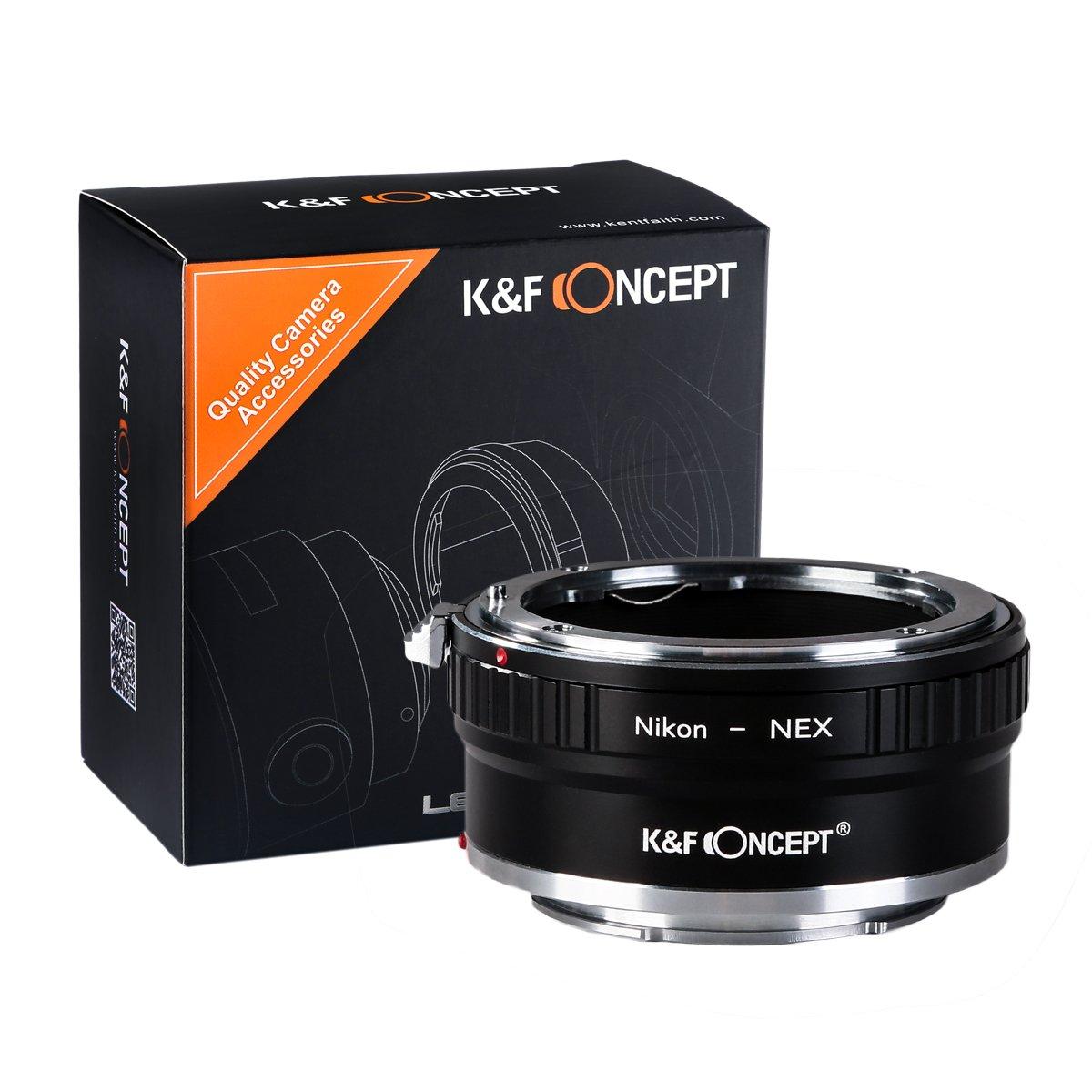K/&F Concept Adapatdor MD a NEX Adaptador de Cobre Lentes Minolta MD MC a Montura Sony E Mount NEX