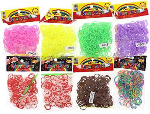 200 pcs Mix color Transparent S clips for loom bands crafts findings accessories