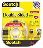 Scotch 137 Double-Sided Office Tape with Hand Dispenser, 1/2 x 450 Inches (137) 2-Pack