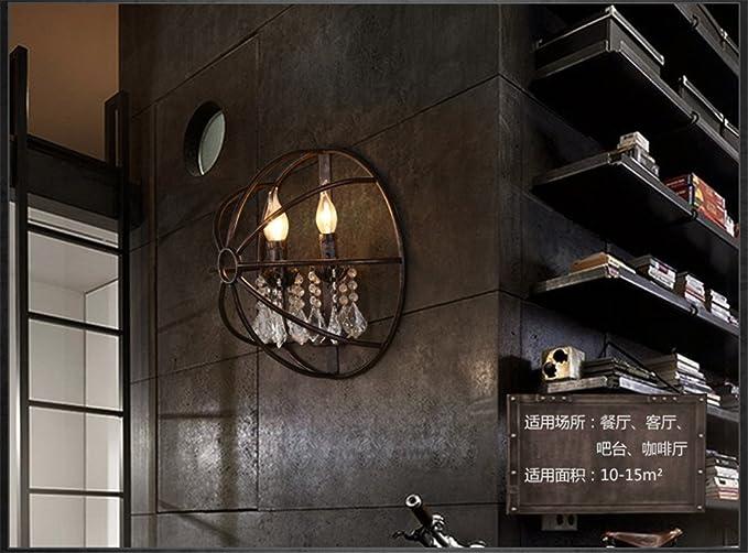 Yu k edison antico stile industriale luci da parete loft il