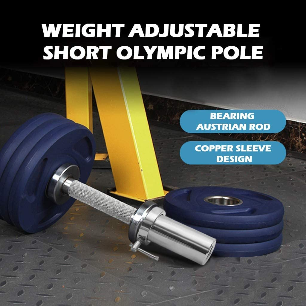 """Sothread TM 1 Pair Olympic 2/"""" Barbell Solid Dumbbell Weight Lifting Bars with Rotating Sleeves,Bearing Austrian Rod Load-Bearing 150lbs"""