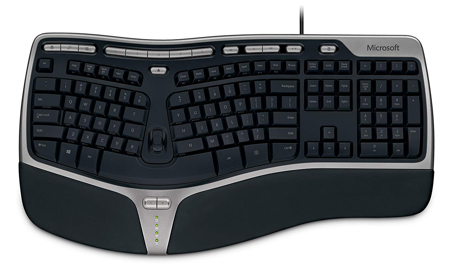 6897ca7b55f Amazon.com: Microsoft Natural Ergonomic Keyboard 4000 for Business - Wired:  Electronics
