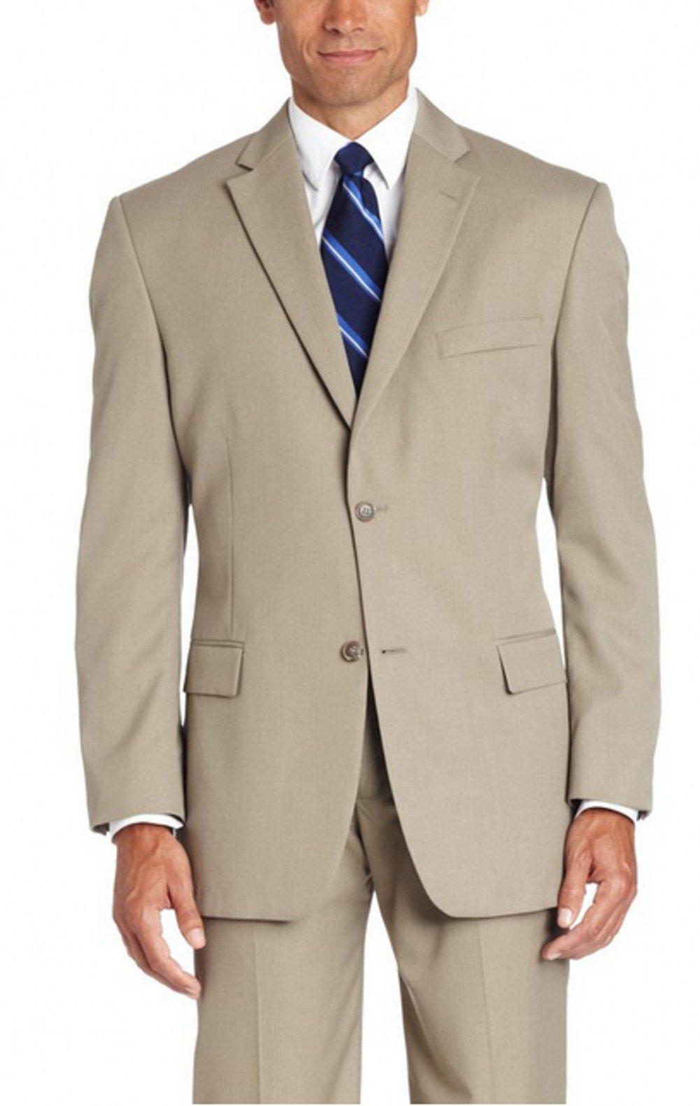 Love Dress Men's Two-button Khaki Suit Jacket and Pant XXXXXXL