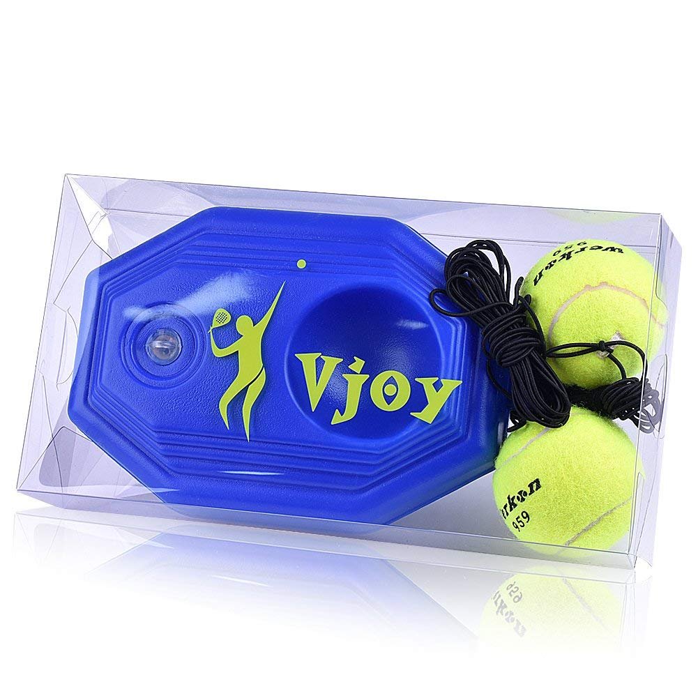 SBL Global Tennis Ball Trainer 2 Training Ball Tennis Base with A Rope Self-study Tennis Rebound Player with Trainer Baseboard