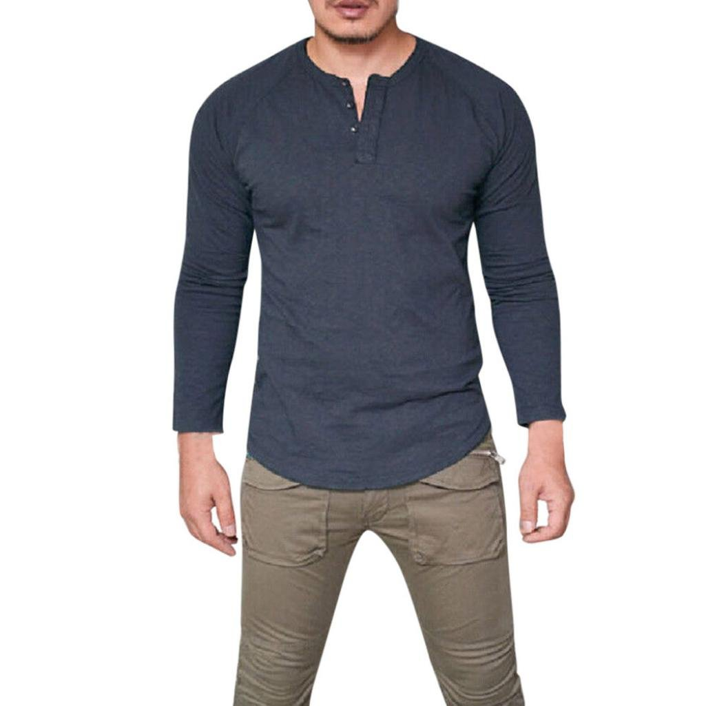 31eb3c151 ❀Material: Cotton Blend___Men\'s Slim Fit Tuetleneck Long Sleeve Muscle Tee  T-shirt Casual Tops Blouse Fashion Men Long Sleeve Printed Slim Fit Casual  ...