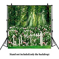 Allenjoy 10x10ft photography backdrops wedding party spring green graden forest color flowers banner photo studio booth background photocall photobooth props