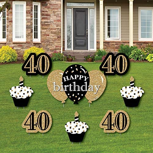Adult 40th Birthday Outdoor Decorations