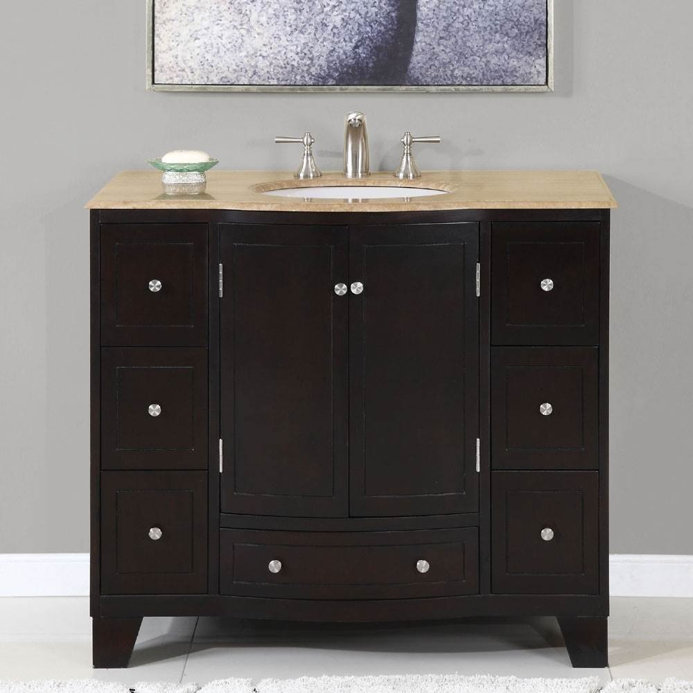 Design Sink Cabinets 40 in naomi single sink bathroom vanity expresso white silkroad amazon com